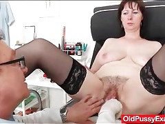 Big butt mature in stockings has her doctor exam tubes