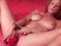 Cutie with perky breasts arouses her pussy tubes