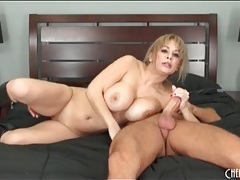 High heeled leather boots on a cock riding milf tubes