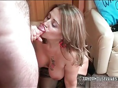 Curvy married amateur sucks dick from her knees tubes