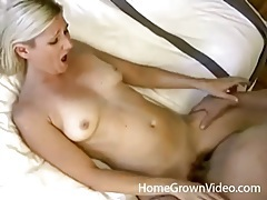 Married blonde fucks another guy as husband films tubes