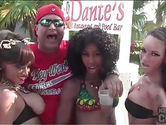 Spring break babes with big tits love to party tubes
