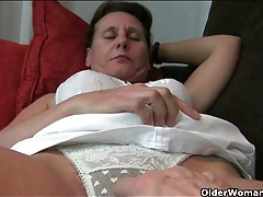 Camera guy fondles the hairy mature model tubes