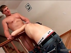 Fit smooth top gets his hard knob gobbled tubes
