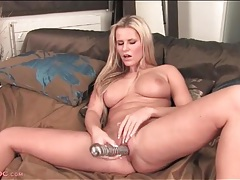 Big tits and sexy curves on a dildo fucking chick tubes