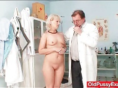 Doctor exam includes mature getting fingered tubes
