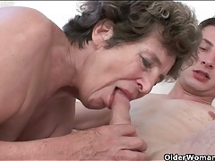 Granny cunt satisfied by his hard cock tubes