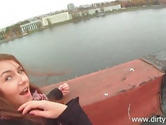 Rooftop fuck and facial with a cute brunette tubes
