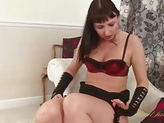 Shiny high heels look hot on this masturbating milf tubes
