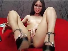 Tiny tits webcam girl teases and masturbates tubes