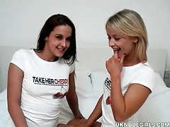 Adorable uk chicks strip and have lesbian sex tubes