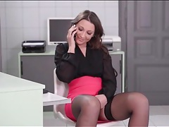 Blouse and skirt on gorgeous secretary tubes