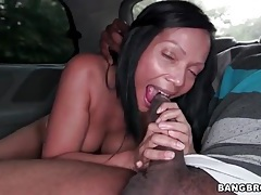 Interracial sex in the car with a big booty babe tubes