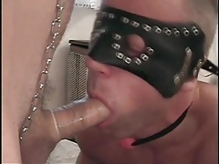 Gay sub gives a sexy condom blowjob tubes