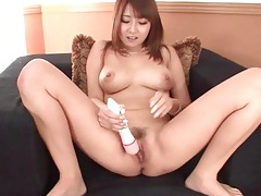 Solo japanese girl fondles her big natural tits tubes
