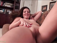 Little boobs and a big ass on a solo mommy tubes