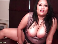 Curvy latina secretary lucey perez solo tubes