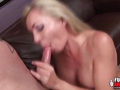 Sloppy spit soaked blowjob from a busty babe tubes