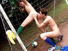 Latin soccer cuties lick and fuck ass outdoors tubes