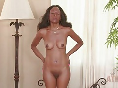 Solo black milf strips and chats in an interview tubes