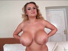 Her gigantic fake tits are amazing in close up tubes
