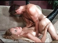 Hot shemale likes cock in her ass while she rides tubes