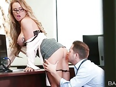 Secretary with amazing tits gets fucked doggystyle tubes