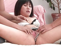 Two guys undress and fondle a japanese beauty tubes