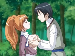 Great sex in the woods with a pigtailed anime girl tubes
