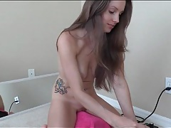 Amateur lelu love rides her vibrating toy tubes