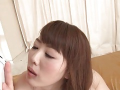 Finger fucking her japanese pussy gets her excited tubes