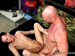 Twink fucked up the butt cums hard tubes