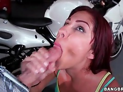 Big cock blowjob gets this hot redhead laid tubes
