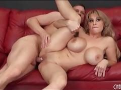 Milf on top has fucking fantastic big fake tits tubes