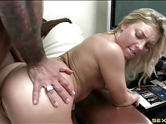 Big dick fucking her pussy is pure pleasure for the slut tubes
