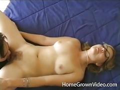 Her asian boyfriend loves eating pussy tubes