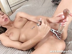 Anal toy banging fun with a big breasts girl tubes