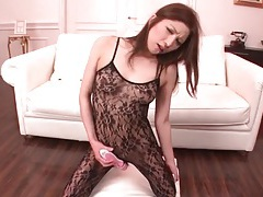 Sexy deepthroat cocksucker in black lace lingerie 2 tubes