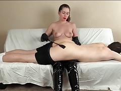 Spanking and hairbrush paddling from his mistress tubes