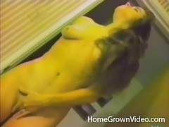 Vintage porn with a beautiful wife shaving her pussy tubes