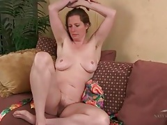 Amateur milf opens her satin robe to expose her tits tubes