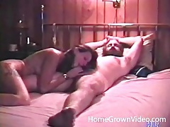 Dude with a big beard blown in a vintage porn tubes