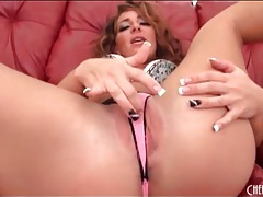 Big ass chick savannah fox looks hot in a thong tubes
