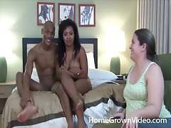 Black couple fucks in doggystyle and missionary tubes