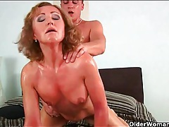 Tight milf and her young lover have sweaty sex tubes