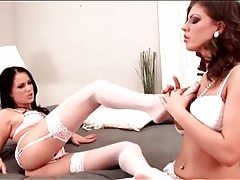 Lesbian lingerie porn with two glamorous girls tubes
