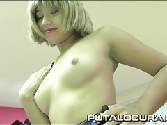 Schoolgirl strips and blows a fat priest tubes