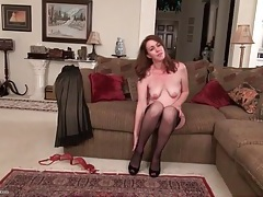 Classy milf in a beautiful evening gown tubes