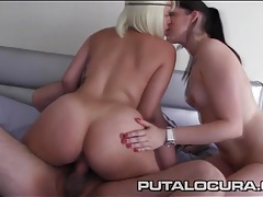 His two naughty latina lovers ride dick with lust tubes
