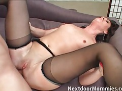 Mommy with itty bitty tits fucked in the ass tubes